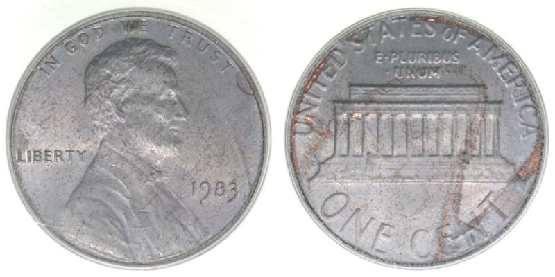 1983 Unplated Zinc Error, PCGS MS-64