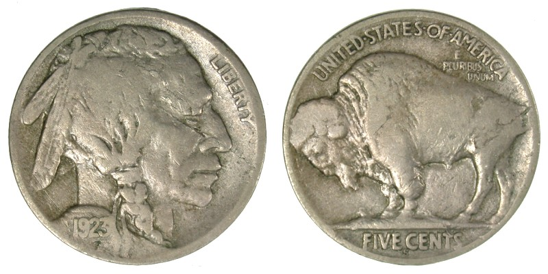 1923-S VF-20 Obv. Die Cracks