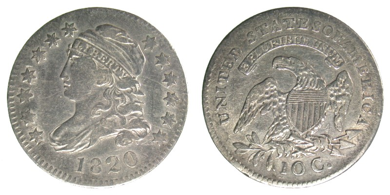 1820 JR-1, STATESOFAMERICA, VF-25 Cleaned